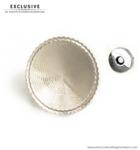 Customizable magnetic snap closure Ø 52 mm.