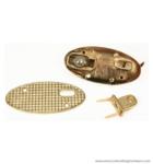 Handbag lock 63X30 mm.