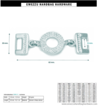 Verbinding strass 82X28/16 mm.