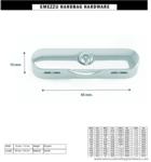 Tassenbeugel slot 65X15 mm.