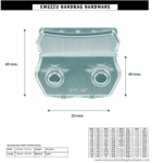 Amiet Cijferslot 52X45 mm.