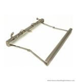 Gladstone bag frame nickel brushed 30 cm. type A