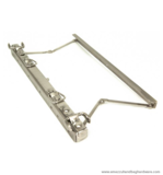 Gladstone bag frame nickel brushed 35 cm. type A