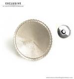 Customizable magnetic snap closure nickel Ø 52 mm.