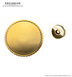 Customizable magnetic snap closure gold Ø 52 mm.