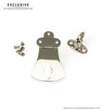 Handbag lock nickel 80X48 mm.