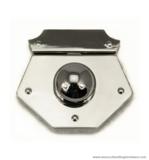 Handbag lock nickel 60X55 mm.