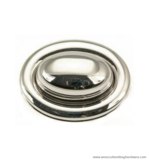 Handbag turn lock nickel 40X30 mm.
