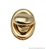 Handbag turn lock gold 40X30 mm.