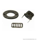 Handbag turn lock black nickel 37X20 mm.