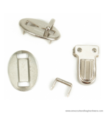 Purse tongue lock mini nickel 24X13 mm.