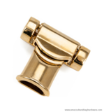 Strap-end gold 50X41mm. /Ø6 mm.