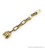 Strap-end antique brass 180X20 mm.