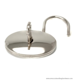 Oval padlock Nickel 45X45 mm.