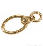 Swivel hook gold 77X35/15 mm.