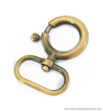 Swivel hook Antique brass brushed 47X29/16 mm.