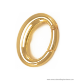 Snap-ring gold 39X29/26 mm.