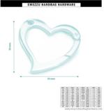 Heart-shaped snap hook gold 53X53 mm.