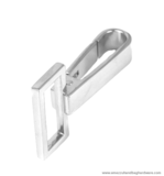 Snap hook nickel 58X37/30 mm.