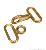 Snap hook gold 92X46/35 mm.