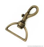 Swivel hook old brass 62X47/38 mm.