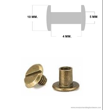 Boekschroef 4 mm.