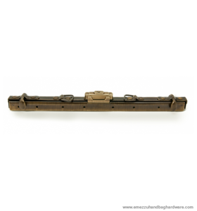 Gladstone bag frame with lock Antique brass brushed 40 cm. type A