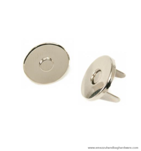 Magnetic snap closure thin nickel Ø14x2 mm.