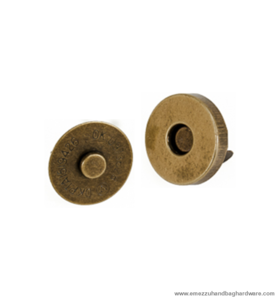 Magnetic snap closure Antique brass Ø14x3 mm.