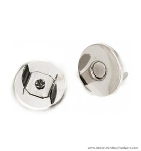 Magnetic snap closure nickel Ø14x3 mm.