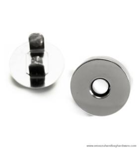 Magnetic snap closure nickel Ø18x3 mm.