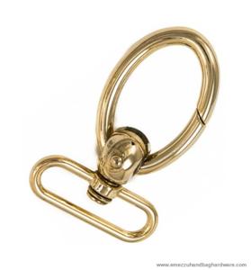 Swivel hook gold 75X48/41 mm.
