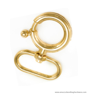 Swivel hook gold 47X29/16 mm.